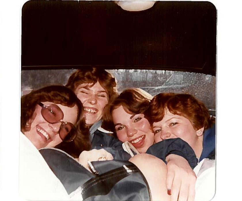 Cheerleading 1978 Arctic Winter Games - Susan, Corine, Glenda & Cindy